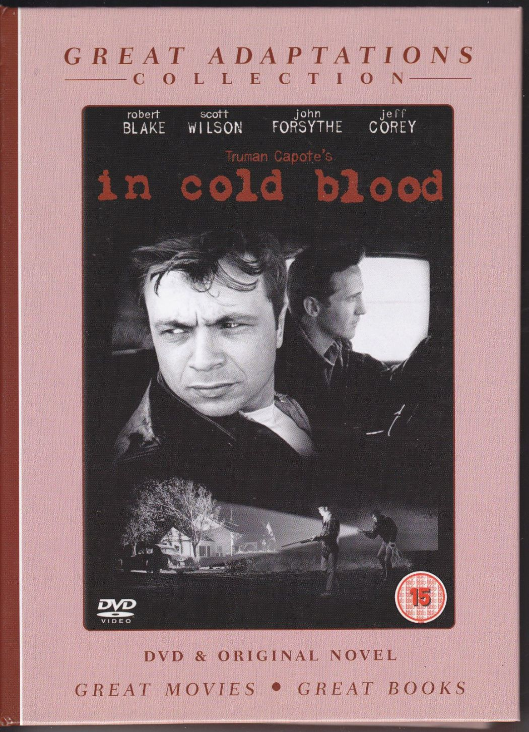 GREAT ADAPTATION COLLECTION - IN COLD BLOOD -DVD & ORIGINAL NOVEL 2007 (NEW N SEALED
